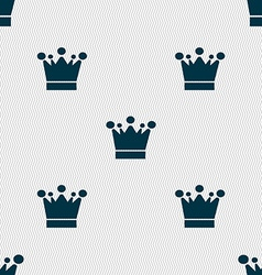 Crown icon sign Seamless abstract background with vector