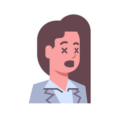 female shocked emotion icon isolated avatar woman vector image