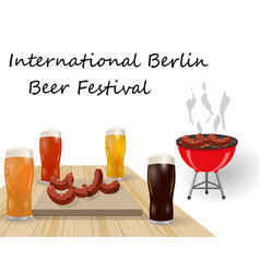 Festival of beer different types of beer in vector
