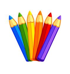Fun kids cartoon color pencils vector