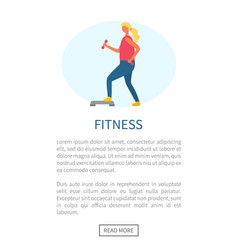 girl doing exercise fitness webpage sport vector image