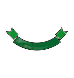 Green ribbon banner empty decoration icon vector