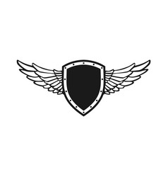 Guardian wing shield emblem symbol design vector