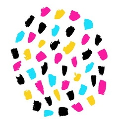Hand painted spots vector