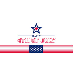 happy 4th july fourth july design vector image