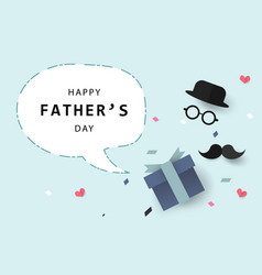 happy fathers day background or banner with vector image