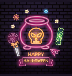 Happy halloween celebration vector