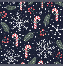 Holiday seamless pattern with christmas candies s vector