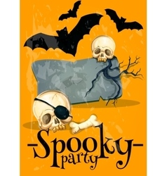 Invitation poster to Spooky Halloween Party vector