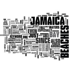 jamaica beaches text background word cloud concept vector image