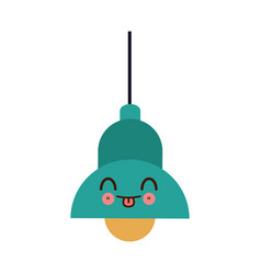 Kawaii lamp bulb ceiling element of interior vector