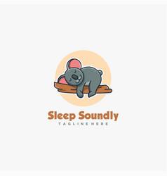 logo sleeping koala cute cartoon vector image