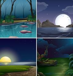 Night scene vector image