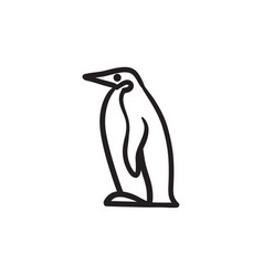 penguin sketch icon vector image