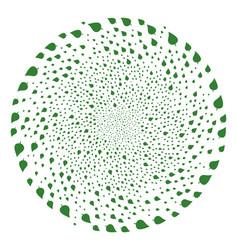 Plant leaf centrifugal stream vector