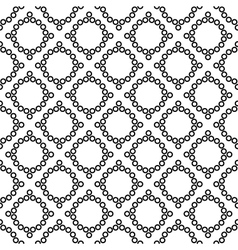 Polka dot and rhombus geometric seamless pattern vector image