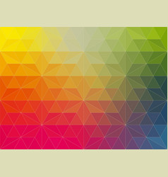 polygonal mosaic background in rainbow vector image