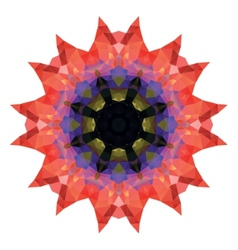poppy Flower crystal vector image vector image