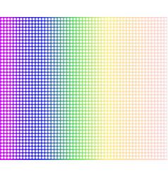 Rainbow dot perforations vector