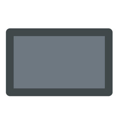 screen tablet icon flat style vector image