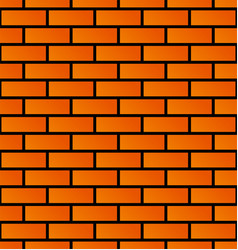 seamless brick wall background brick pattern vector image