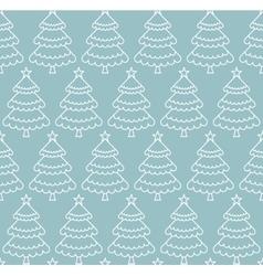 Seamless Christmas tree pattern vector image