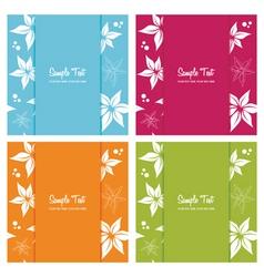 set of floral card backgrounds vector illustration vector image