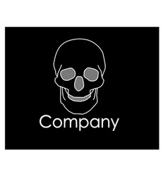 Skull graphic logo vector