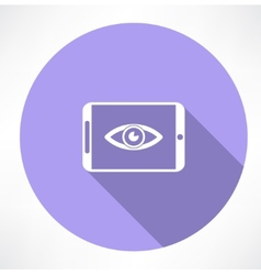 Smartphone with eye icon vector