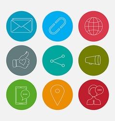 Social icons set vector