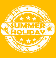 summer holiday rubber stamp vector image