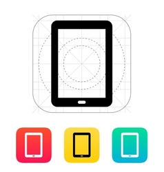 Tablet PC screen icon vector