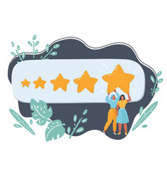 the best rating evaluation online review vector image