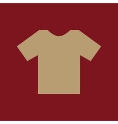 The shirt icon T-shirt symbol Flat vector