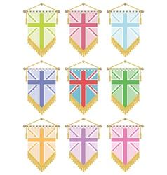 uk flag pennants vector image