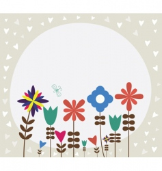 Vintage retro flower background vector