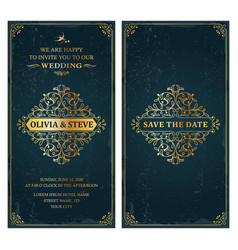 wedding classic invitation template card design vector image