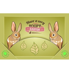 With spring and rabbit vector