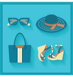 Women fashion accessories icons set vector