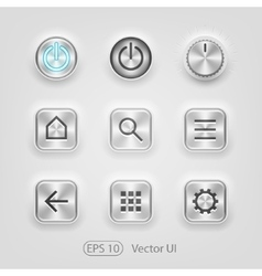 Brushed metal UI vector image