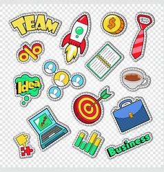 business team work doodle finance creative idea vector image