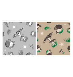 forest mushrooms seamless vector image vector image