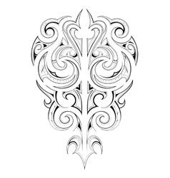 Maori tattoo vector image