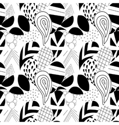 Textured geometrical paisley Seamless pattern vector image vector image