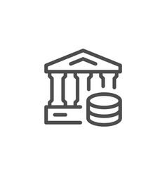 bank line icon vector image