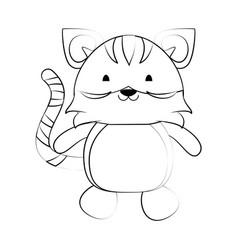 cute animal cartoon icon image vector image vector image