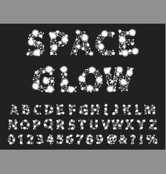 font space alphabet typeface script with minimal vector image vector image