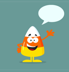 funny candy corn flat design waving vector image