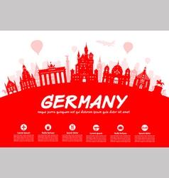 Germany Berlin travel landmark vector image