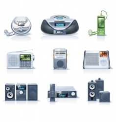 household appliance icons vector image vector image